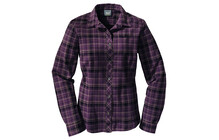 JACK WOLFSKIN Valley Shirt Women aubergine checks